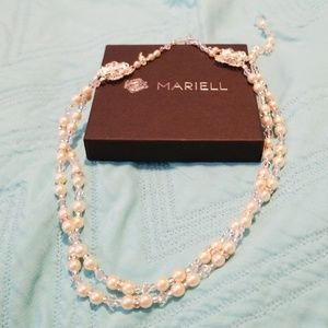 Mariell 2 row pearl necklace *wedding, prom, etc